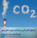 با مراجعه به منابع معتبر درباره چگونگی تأثیر افزایش کربن دی اکسید روی دمای کره زمین اطلاعاتی جمع آوری کنید